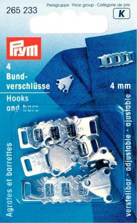 Prym Rock- und Hosenbundverschluesse ST 4 mm silberfarbig