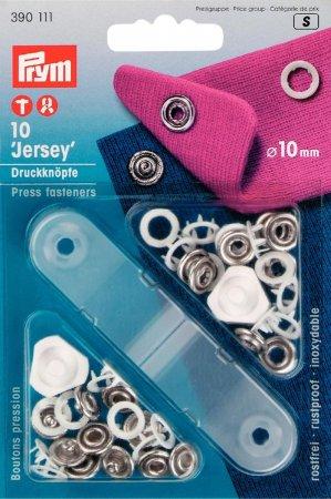 Prym NF-Druckknopf Jersey Zackenring MS 10 mm weiss