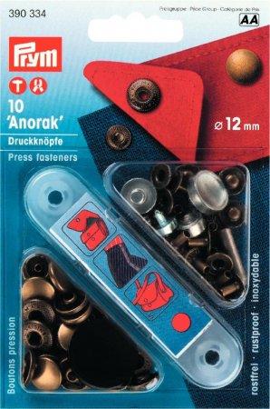 Prym NF-Druckknopf Anorak MS 12 mm altmessing