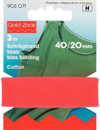 Prym Schrägband Baumwolle 40/20 mm rot
