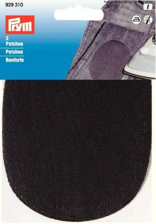 Prym Patches CO (bügeln) 10 x 14 cm schwarz