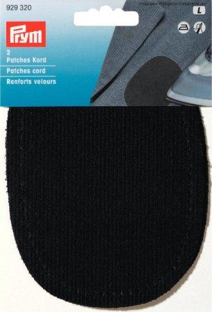 Prym Patches Kord (bügeln) 10 x 14 cm schwarz