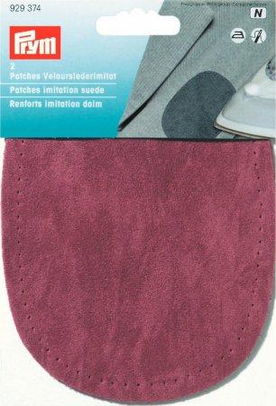 Prym Patches Velourslederimitat (bügeln) 10 x 14 cm dunkelrot