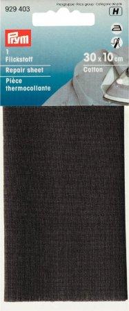 Prym Flickstoff CO (bügeln) 12 x 45 cm grau