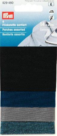 Prym Flickstoff CO (bügeln) 14 x 7 cm farbig sortiert