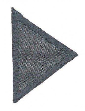 Prym Applikation Dreiecke klein, grau