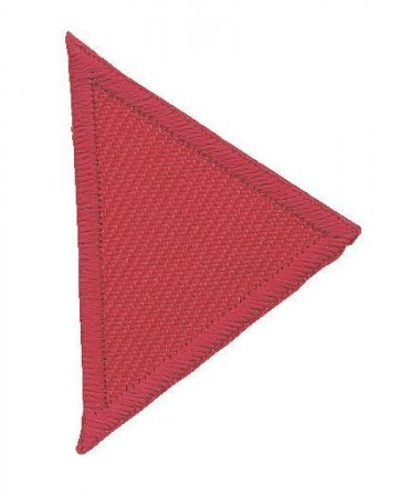 Prym Applikation Dreiecke klein, rot