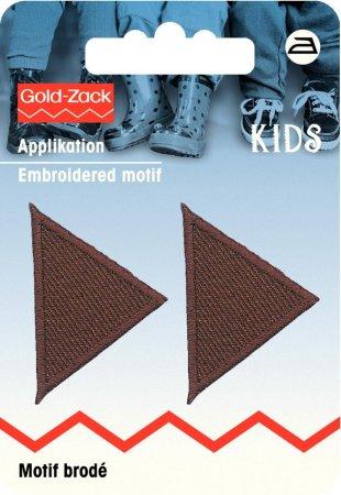 Prym Applikation Dreiecke klein, braun
