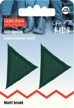 Prym Applikation Dreiecke klein, dunkelgrün