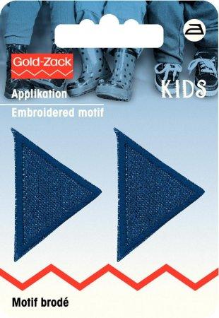 Prym Applikation Dreiecke klein, Jeans dunkel