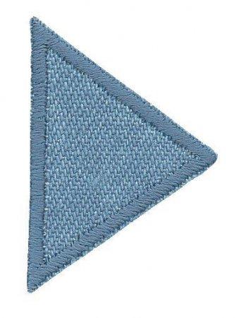 Prym Applikation Dreiecke klein, Jeans hell