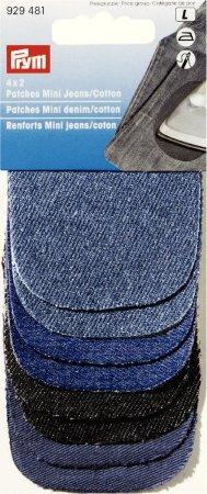 Prym 4x2 Patches Mini (zum Aufbügeln) 6 x 8 cm Jeans/CO