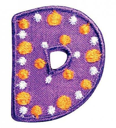 Prym Applikation Buchstabe D violett/bunt