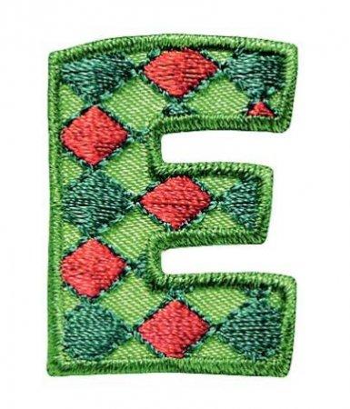Prym Applikation Buchstabe E grün/rot