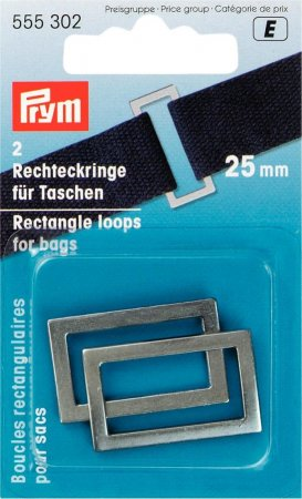 Prym Rechteckringe für Taschen 25 mm altsilber