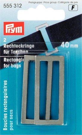 Prym Rechteckringe für Taschen 40 mm altsilber