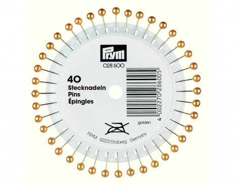 Prym Perlkopf-Stecknadeln 0,58 x 40 mm goldfarbig