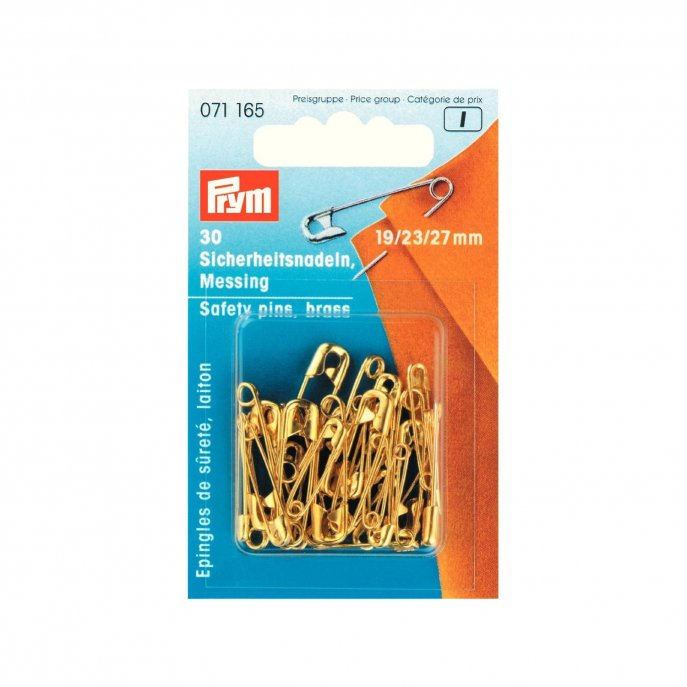 Prym Sicherheitsnadeln MS 19/23/27 mm goldfarbig