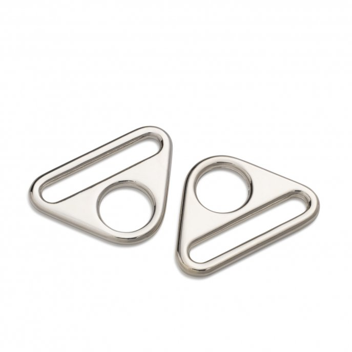 Prym Triangel-Ringe mit Steg 30 mm silberfarbig