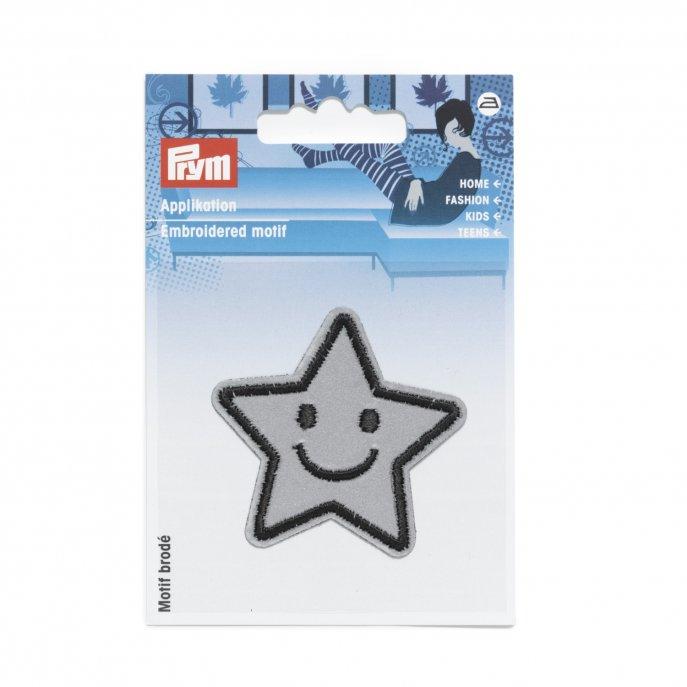 Prym Applikation Reflex selbstklebend/aufbügelbar Stern