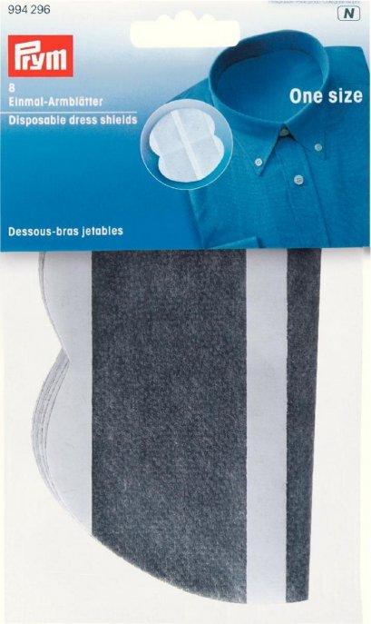 Prym Einmal-Armblätter grau