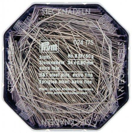Prym Stecknadeln ST 0,60 x 34 mm silberfarbig