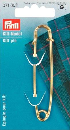 Prym Kiltnadel MS 76 mm goldfarbig
