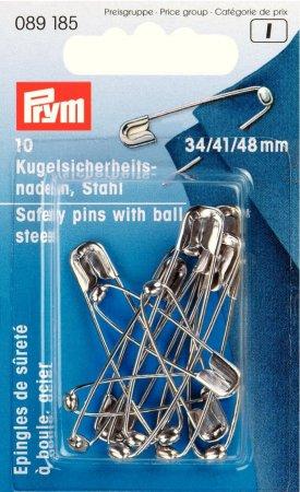 Prym Kugel-Sicherheitsnadeln ST 34/41/48 mm silberfarbig
