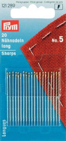 Prym Nähnadeln lang ST 5 0,80 x 40 mm silberfarbig/goldfarbig