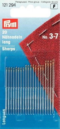 Prym Nähnadeln lang ST 3-7 silberfarbig/goldfarbig