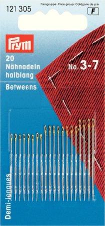 Prym Nähnadeln halblang ST 3-7 silberfarbig/goldfarbig