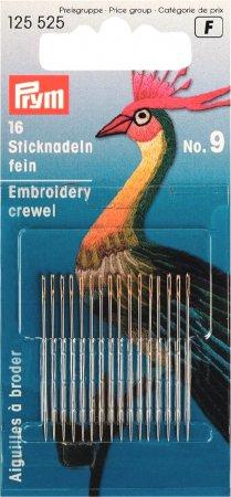Prym Crewelnadeln ST 9 0,60 x 35 mm silberfarbig/goldfarbig