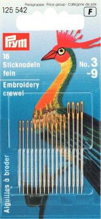 Prym Crewelnadeln ST 3-9 silberfarbig/goldfarbig