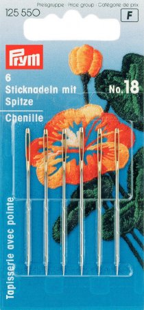 Prym Sticknadeln mit Sp. ST 18 1,20 x 50 mm silber-/goldfarbig