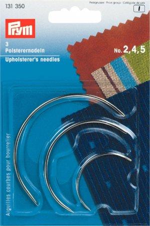 Prym Polsterernadeln gebogen ST 2,4,5 silberfarbig