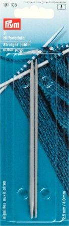 Prym Hilfsnadeln ALU 2,50 + 4,00 mm perlgrau
