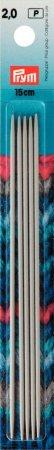 Prym Strumpfstricknadeln ALU 15 cm 2,00 mm grau