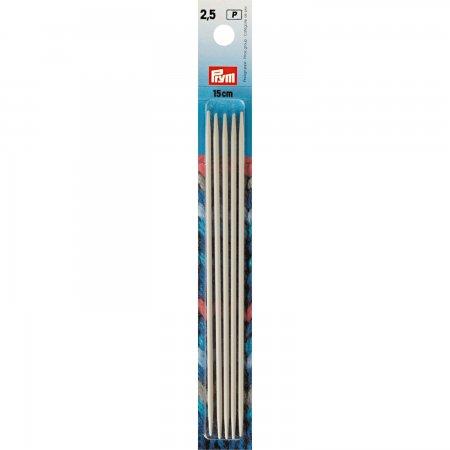 Prym Strumpfstricknadeln ALU 15 cm 2,50 mm grau