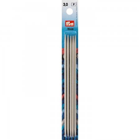 Prym Strumpfstricknadeln ALU 15 cm 3,00 mm grau