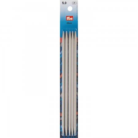 Prym Strumpfstricknadeln ALU 20 cm 5,00 mm grau