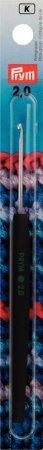 Prym Woll-Häkelnadeln Soft-Griff ALU 14 cm 2,00 mm silberfarbig