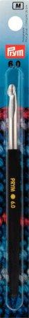 Prym Woll-Häkelnadeln Soft-Griff ALU 14 cm 6,00 mm silberfarbig