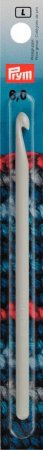 Prym Woll-Häkelnadeln o. Griff KST 14 cm 6,00 mm grau