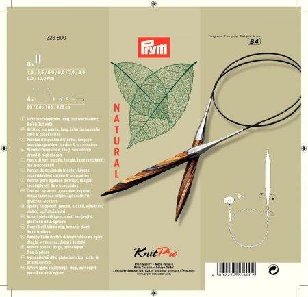 Prym Rundstricknadel Set NATURAL 4,0-10,0 mm