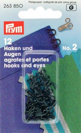 Prym Haken und Augen MS 2 schwarz