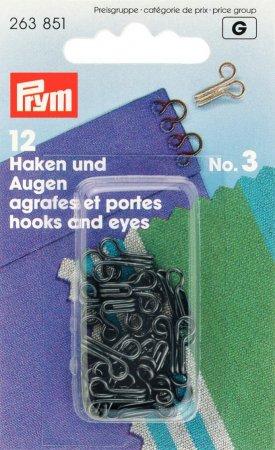 Prym Haken und Augen MS 3 schwarz