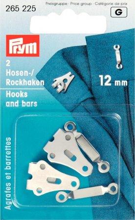 Prym Hosen/Rockhaken und Stege ST 12 mm silberfarbig