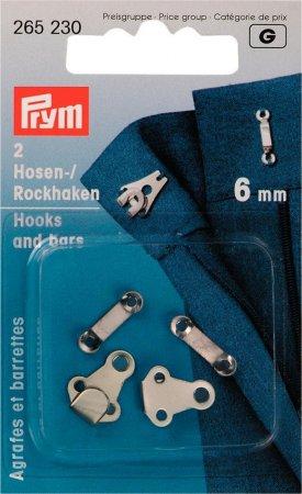 Prym Hosen/Rockhaken und Stege ST 6 mm silberfarbig