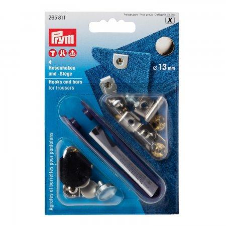 Prym NF-Hosenhaken und Stege ST 13 mm silberfarbig/brüniert