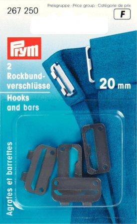 Prym Rockbundverschlüsse ST 20 mm schwarz